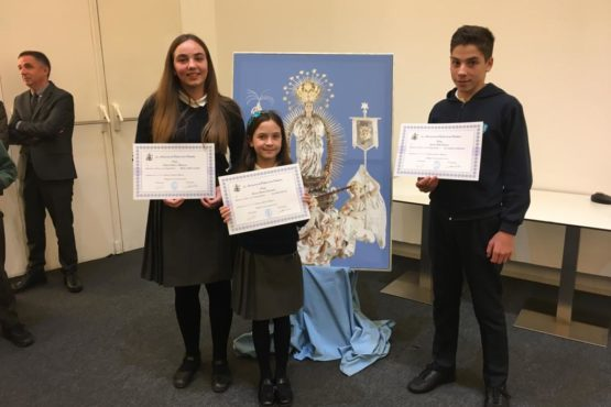 Tres terceros premios en el certamen literario de la Puríssima